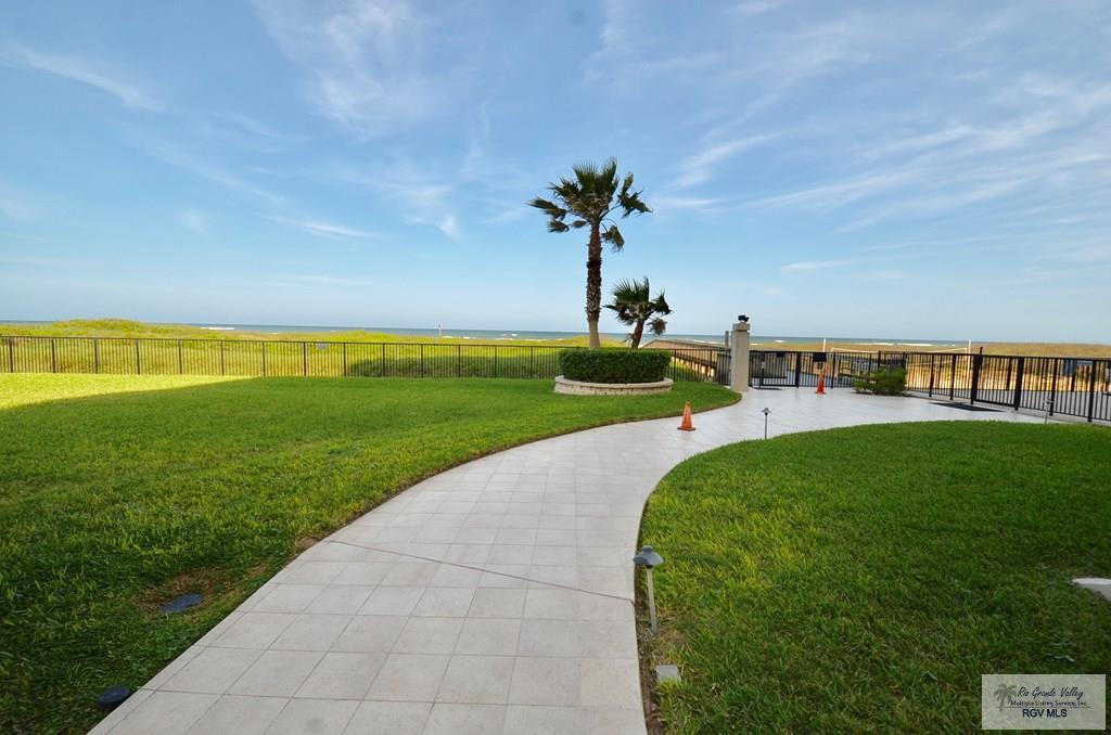 View of walkway to the pool or beach